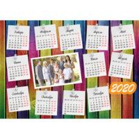 Календари-постеры горизонтальные